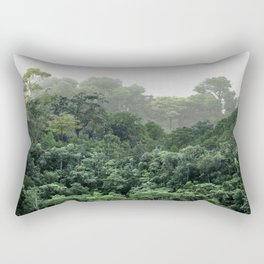 Tropical Foggy Forest Rectangular Pillow