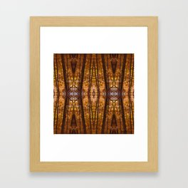 Magic In The Trees Kaleidoscope Collage Framed Art Print