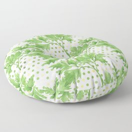 Parsley on Green Yellow Dots Floor Pillow