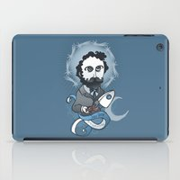 writer iPad Cases featuring Jules Verne Holy Writer by roberto lanznaster