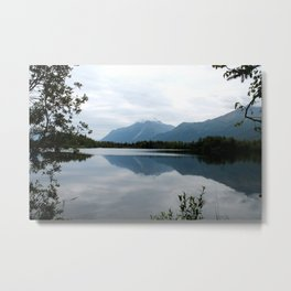 Mountain Reflection Metal Print