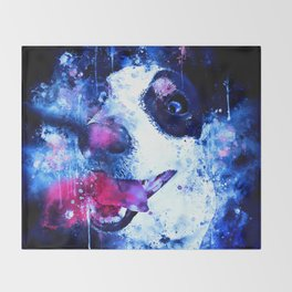 jack russell terrier dog crazy eyes ws cb Throw Blanket