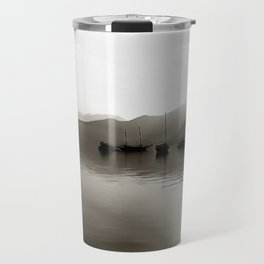 Gulets In Greyscale Travel Mug