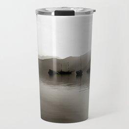 Gulets In Greyscale Travel Mug