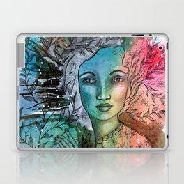 Floral Lady Laptop & iPad Skin