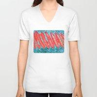 nail polish V-neck T-shirts featuring Not Nail Polish by ghennah
