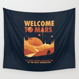 Welcome to Mars Wall Tapestry
