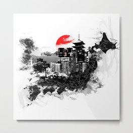 Abstract Tokyo-Shinjuku/Kyoto - Japan Metal Print