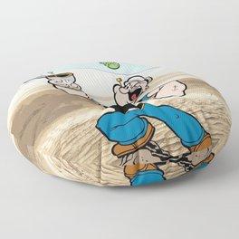 Popeye on Desert Floor Pillow