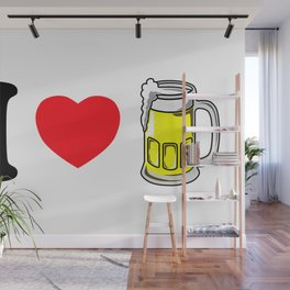 I Heart Beer Wall Mural