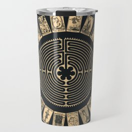 Major Arcana & Golden Labyrinth Travel Mug