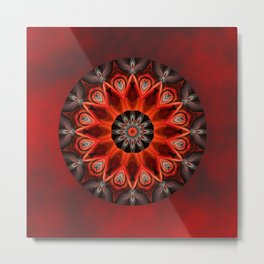 Mandala burning passion Metal Print