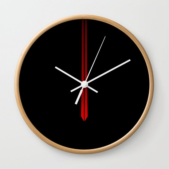 The Red Wall Clock