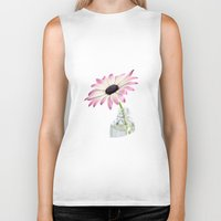 daisy Biker Tanks featuring Daisy by LebensART Photography
