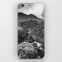 cassia beck iPhone & iPod Skins featuring Cinnerdale Beck above Crummock Water with Whiteless Pike beyond. Lake District, UK. by liamgrantfoto