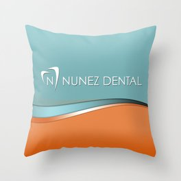 Nunez Dental Logo Throw Pillow