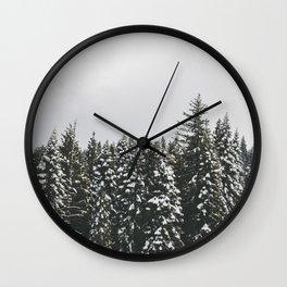 Snow Trees Wall Clock