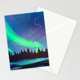 Northern Lights Leo Stationery Cards