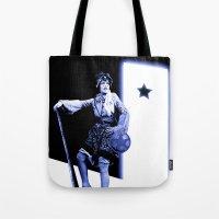 scott pilgrim Tote Bags featuring Ramona Flowers - Scott Pilgrim by Danielle Tanimura