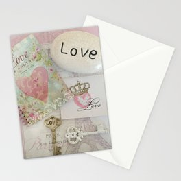 Shabby Chic Love Romantic Decor - Love Skeleton Key Prints Home Decr Stationery Cards
