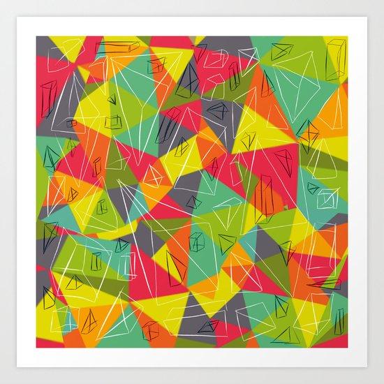 geo frame Art Print