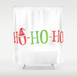 HO HO HO Christmas Elements Design Shower Curtain