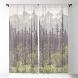 Faraway - Wilderness Nature Photography Sheer Curtain