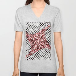black white red 2 Unisex V-Neck
