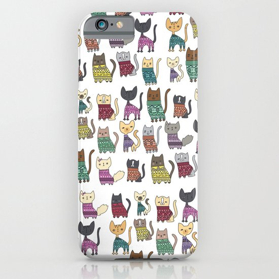 sweater cats iPhone & iPod Case