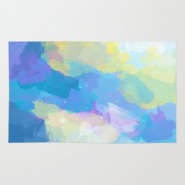 Colorful Abstract - blue, pattern, clouds, sky Rug