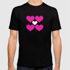 My heart Black MEDIUM Mens Fitted Tee
