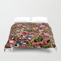 bands Duvet Covers featuring BANDS by DIVIDUS