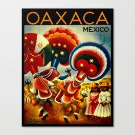 Oaxaca Mexico Vintage Travel Canvas Print