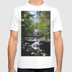 Glendale Falls Mens Fitted Tee SMALL White