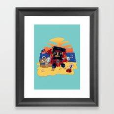 Lucky the Pirate Framed Art Print