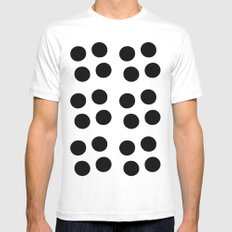 Copijn Black & White Dots White MEDIUM Mens Fitted Tee