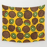 kiwi Wall Tapestries featuring Kiwi by Nemki