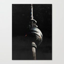 Tour de télévision de Berlin Canvas Print