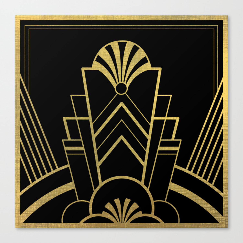 Art Deco Design Great Gatsby Canvas Print By Artbyagnew Society6