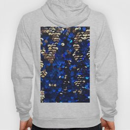 Gold and Blue Glitter Pattern Hoody