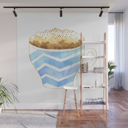 Capuccino Foam Cup Wall Mural