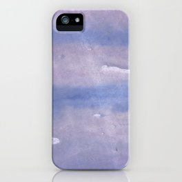 Purple Blue abstract watercolor pattern iPhone Case