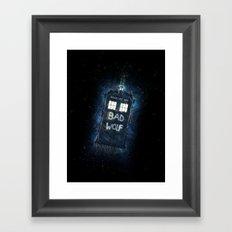 Bad Wolf TARDIS Framed Art Print