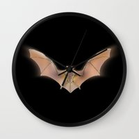 bat Wall Clocks featuring bat by ErsanYagiz