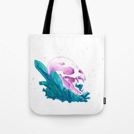 Crystal Bat Skull Tote Bag
