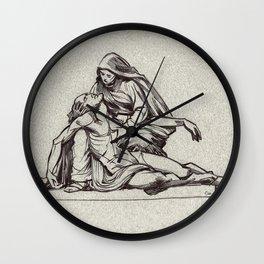 Pieta, St-Étienne, Beauvais, France. Wall Clock