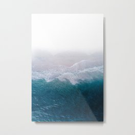 BLUE BEACH BREAK Metal Print
