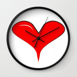 Looney Heart Wall Clock