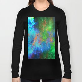 Speed Of Light - Abstract space painting Long Sleeve T-shirt
