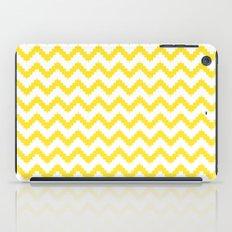 funky chevron yellow pattern iPad Case